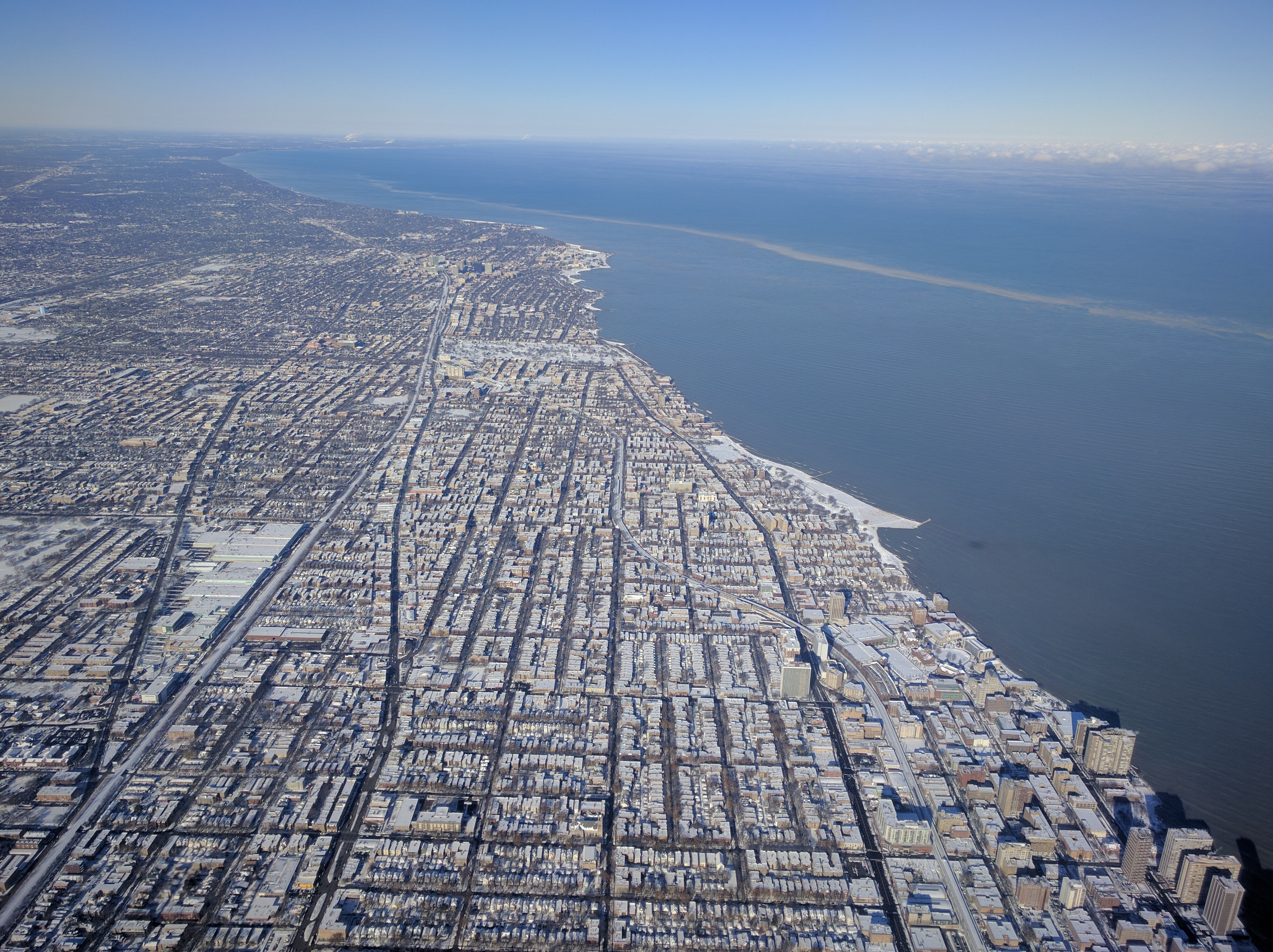 Chicago By Air, In Winter