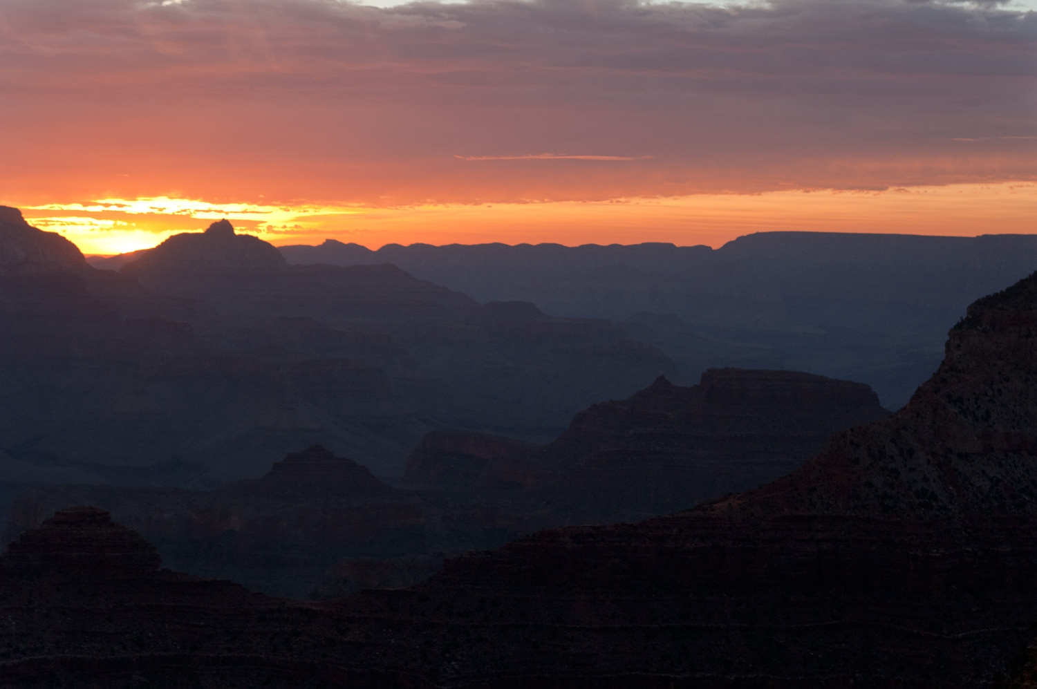 Sun Up At Yavapai Point