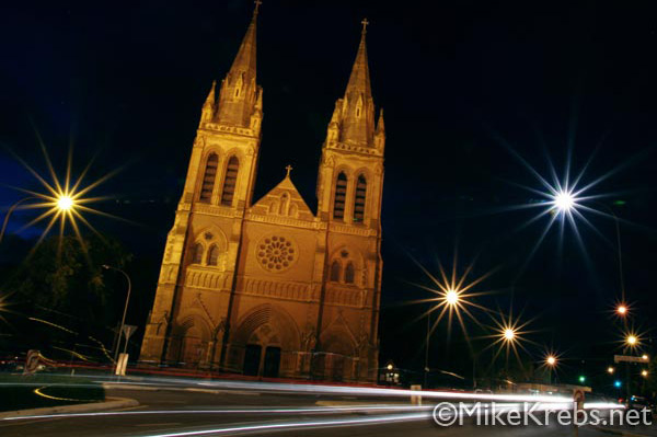 Night Photo Church Adelaide