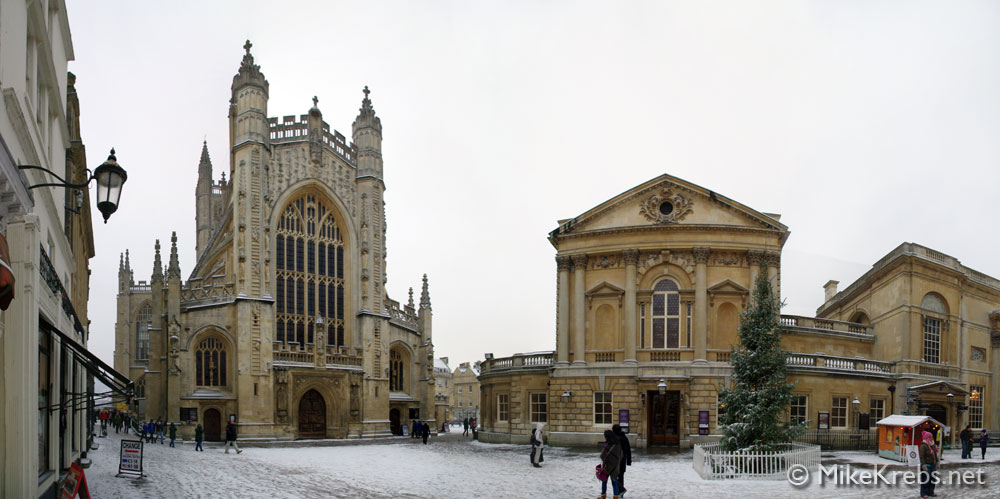 Bath Abbey, UK, Panorama