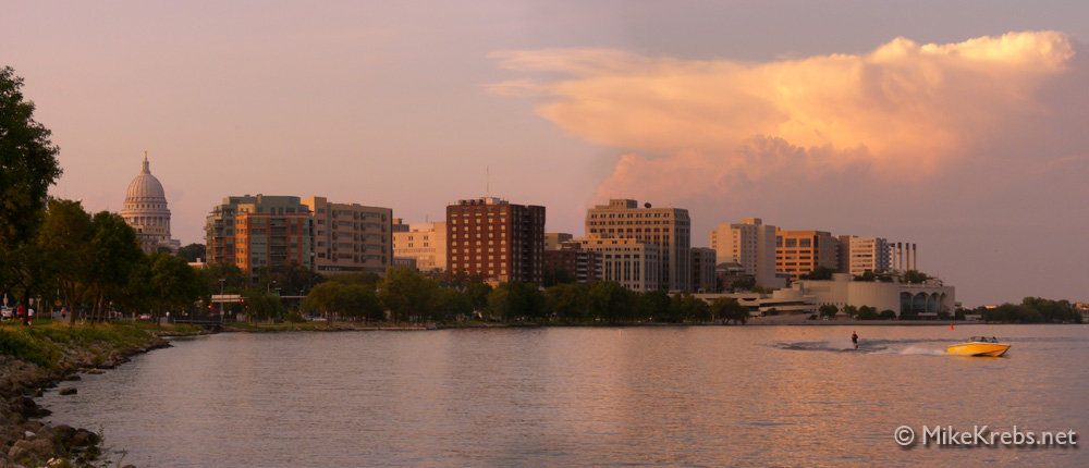 Madison Wisconsin Lake Panorama